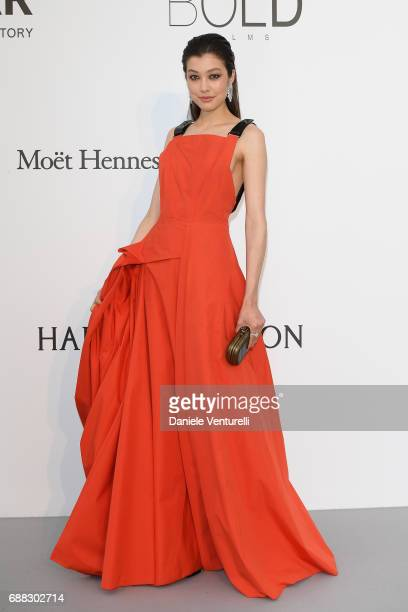 Kouka arrives at the amfAR Gala Cannes 2017 at Hotel du CapEdenRoc on May 25 2017 in Cap d'Antibes France