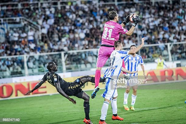 Koulibaly Kalidou and Bizzarri Albano during the Italian Serie A football match Pescara vs SSC Napoli on August 21 in Pescara Italy Photo by Adamo Di...