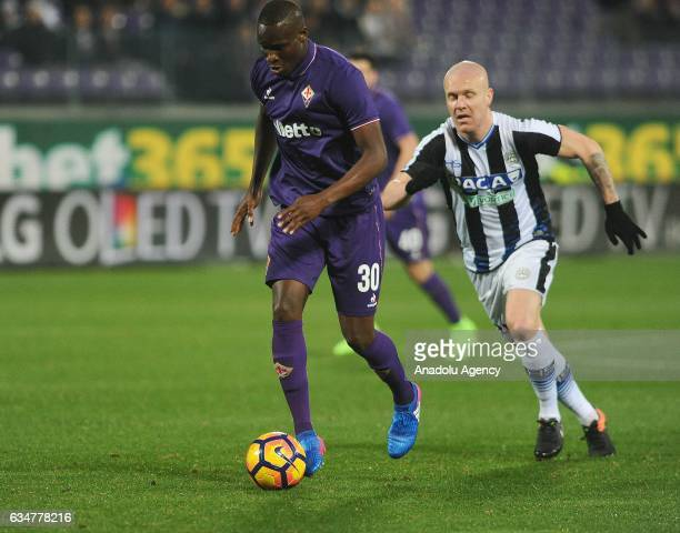 Kouma el Babacar of Acf Fiorentina in action during serie A Italian soccer match between ACF Fiorentina and Udinese Calcio at Stadio Artemio Franchi...