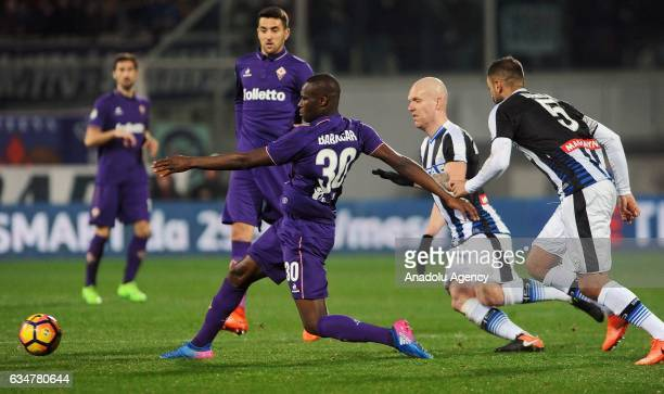 Kouma el Babacar of Acf Fiorentina scores a goal during serie A soccer match between ACF Fiorentina and Udinese Calcio at Stadio Artemio Franchi in...