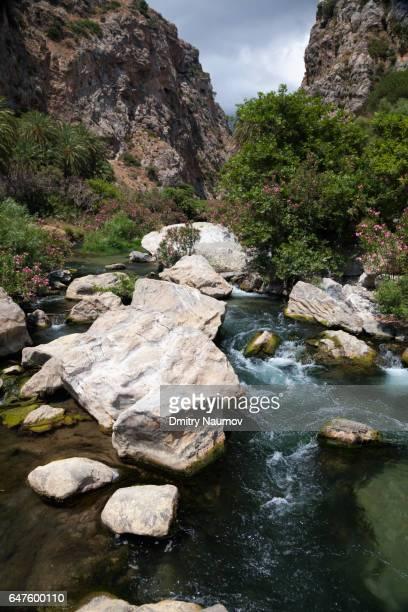Kourtaliotiko Gorge near Preveli palm beach, Rethymno, Crete,  Greece, Mediterranean