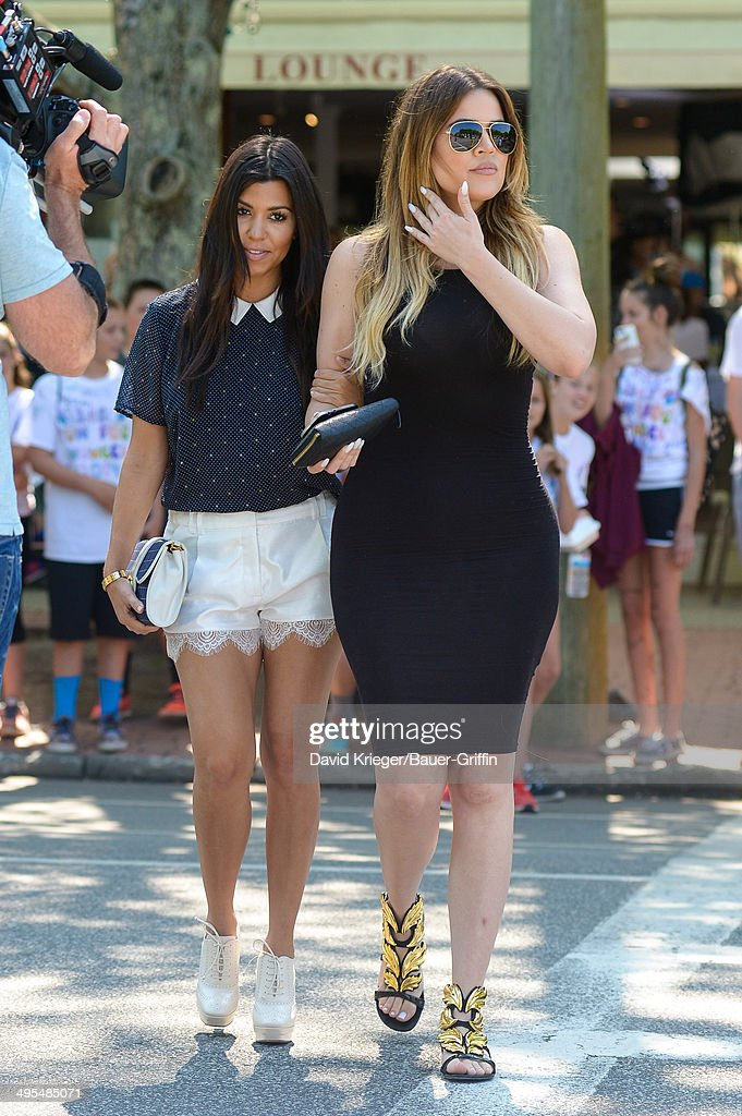<a gi-track='captionPersonalityLinkClicked' href=/galleries/search?phrase=Kourtney+Kardashian&family=editorial&specificpeople=3955024 ng-click='$event.stopPropagation()'>Kourtney Kardashian</a> and <a gi-track='captionPersonalityLinkClicked' href=/galleries/search?phrase=Khloe+Kardashian&family=editorial&specificpeople=3955023 ng-click='$event.stopPropagation()'>Khloe Kardashian</a> are seen in Southhampton on June 03, 2014 in Southampton, New York.