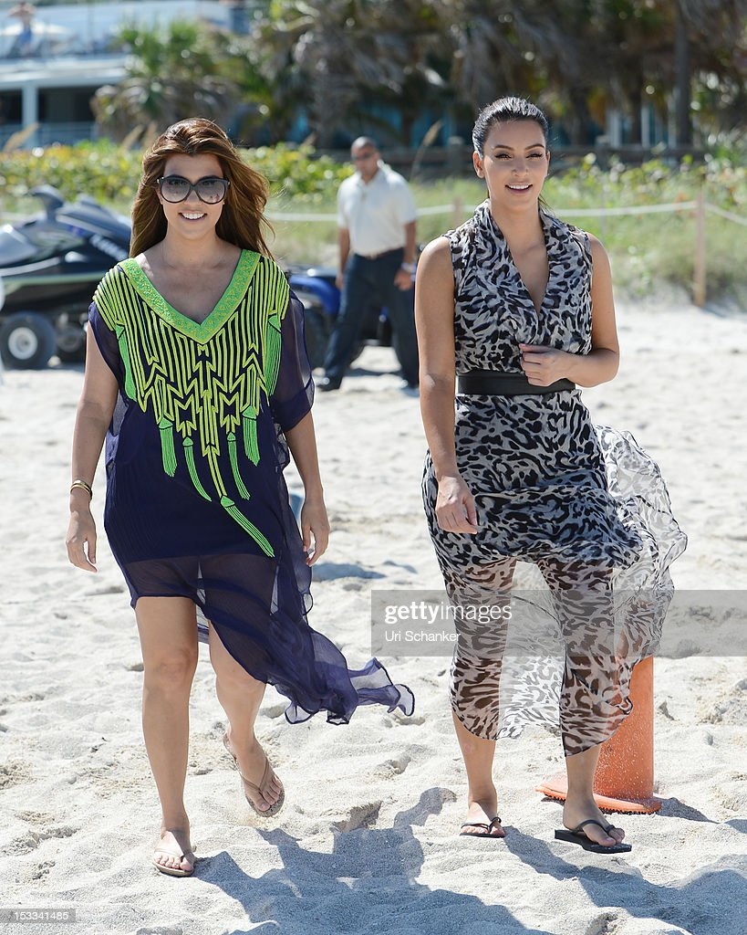 <a gi-track='captionPersonalityLinkClicked' href=/galleries/search?phrase=Kourtney+Kardashian&family=editorial&specificpeople=3955024 ng-click='$event.stopPropagation()'>Kourtney Kardashian</a> and <a gi-track='captionPersonalityLinkClicked' href=/galleries/search?phrase=Kim+Kardashian&family=editorial&specificpeople=753387 ng-click='$event.stopPropagation()'>Kim Kardashian</a> are sighted on October 3, 2012 in Miami, Florida.