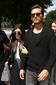 Kourtney Kardashian and Scott Disick arrive at the 'Baby Dior' store on May 22 2014 in Paris France