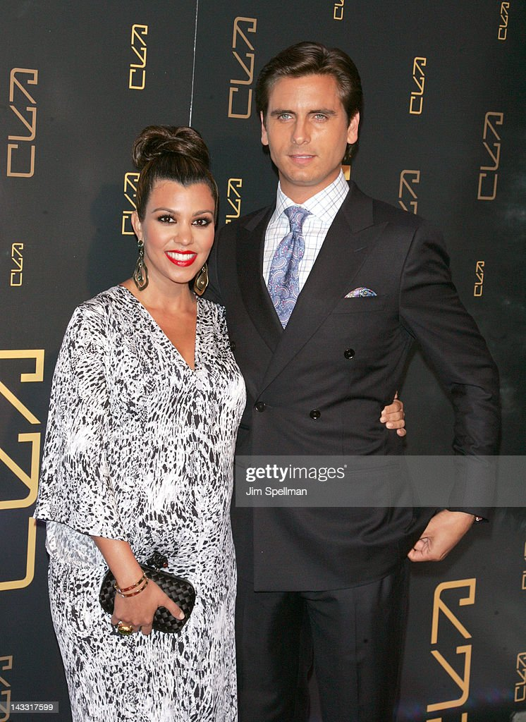 Kourtney Kardashian and Scott Disick attend the grand opening of RYU on April 23, 2012 in New York City.