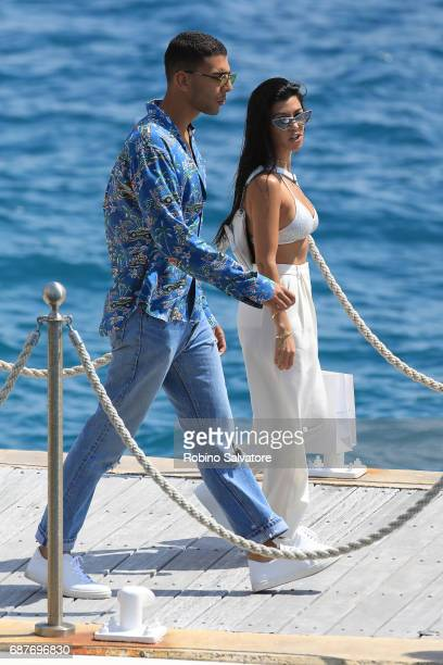 Kourtney Kardashian and Younes Bendjima are spotted during the 70th annual Cannes Film Festival at on May 24 2017 in Cannes France