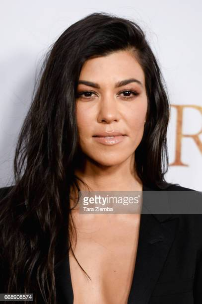 Kourtney Kardashian arrive to the Los Angeles premiere of 'The Promise' at TCL Chinese Theatre on April 12 2017 in Hollywood California