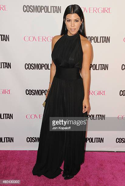Kourtney Kardashian arrives at Cosmopolitan Magazine's 50th Birthday Celebration at Ysabel on October 12 2015 in West Hollywood California