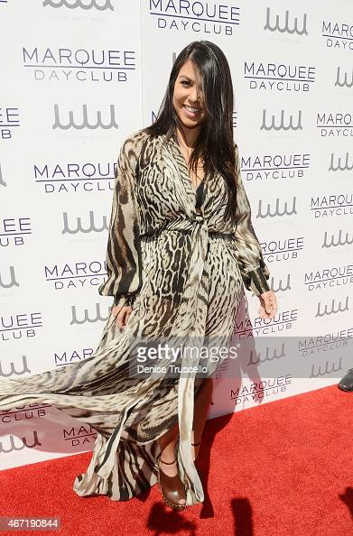 Kourtney Kardashian arrives at Marquee Dayclub at the Cosmopolitain on March 21 2015 in Las Vegas Nevada