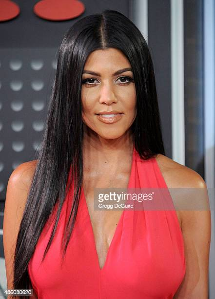 Kourtney Kardashian arrives at the 2015 MTV Video Music Awards at Microsoft Theater on August 30 2015 in Los Angeles California