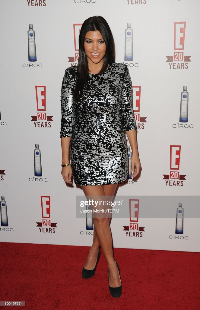 Kourtney Kardashian arrives at the E! 20th anniversary party celebrating two decades of pop culture held at The London Hotel on May 24, 2010 in West Hollywood, California.
