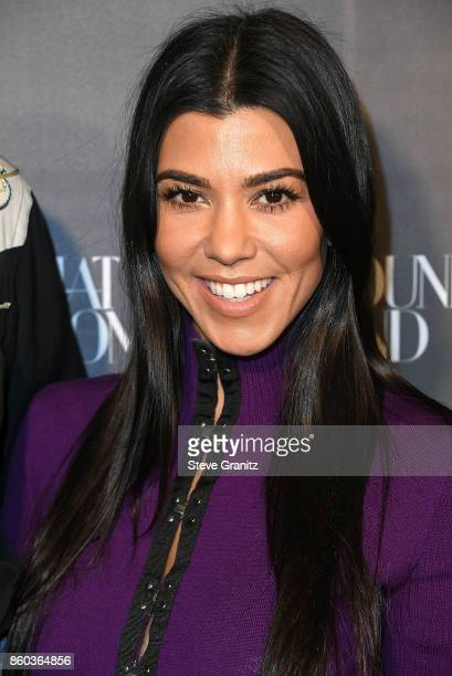 Kourtney Kardashian arrives at the What Goes Around Comes Around One Year Anniversary at What Goes Around Comes Around on October 11 2017 in Beverly...