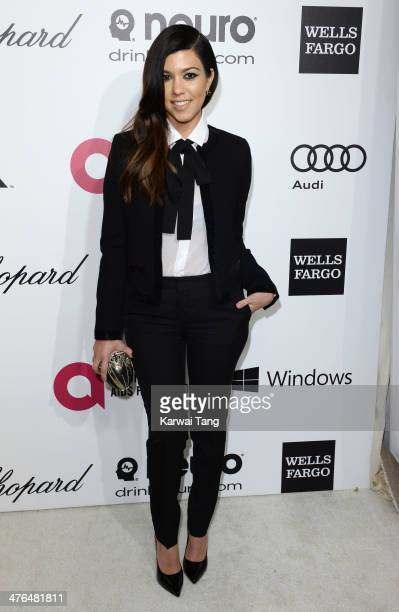 Kourtney Kardashian arrives for the 22nd Annual Elton John AIDS Foundation's Oscar Viewing Party held at West Hollywood Park on March 2 2014 in West...