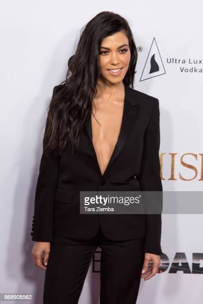 Kourtney Kardashian arrives to the Los Angeles premiere of 'The Promise' at TCL Chinese Theatre on April 12 2017 in Hollywood California