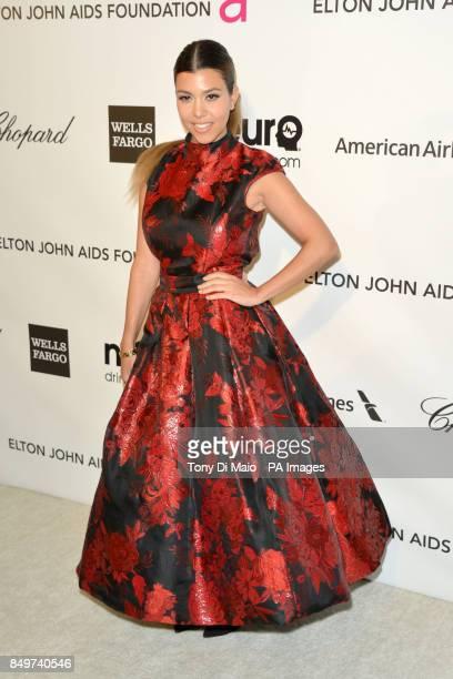 Kourtney Kardashian arriving for 2013 Elton John AIDS Foundation Oscar Party held at West Hollywood Park in West Hollywood Los Angeles
