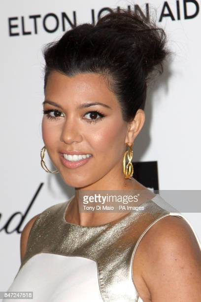 Kourtney Kardashian arriving for the Elton John Aids Foundation Academy Awards Viewing Party at West Hollywood Park in Los Angeles USA on Sunday Feb...