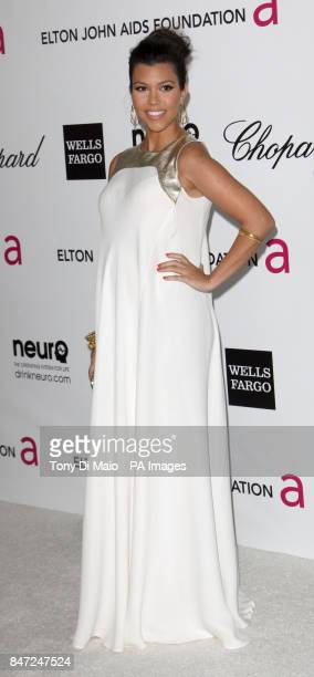 Kourtney Kardashian arriving for the Elton John Aids Foundation Academy Awards Viewing Party at West Hollywood Park in Los Angeles USA