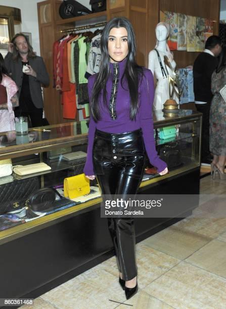 Kourtney Kardashian at What Goes Around Comes Around Beverly Hills Anniversary on October 11 2017 in Beverly Hills California