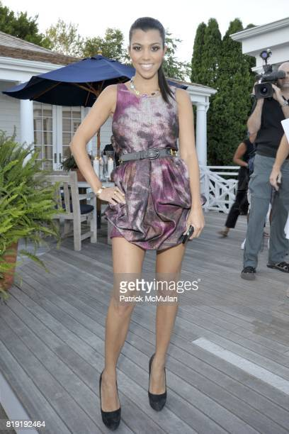 Kourtney Kardashian attends QVC Style Initiative Dinner hosted by CEO Mike George at the home of Dennis Basso and partner Michael Cominotto on July...