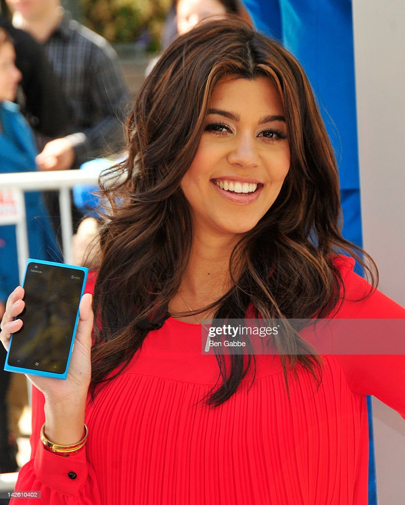 Kourtney Kardashian attends the Nokia Lumia 900 launch in Bryant Park on April 9 2012 in New York City