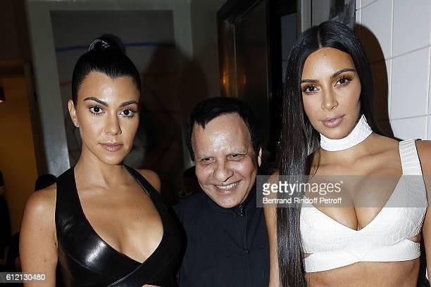 Kourtney Kardashian Azzedine Alaia and Kim Kardashian attend the private Dinner hosted by Surface Magazine And Azzedine Alaia Private Dinner as part...