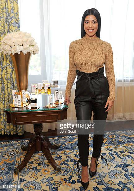 Kourtney Kardashian films an episode of Amazon's live stream fashion and beauty show 'Style Code Live' at Four Seasons Hotel on November 4 2016 in...