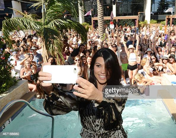 Kourtney Kardashian hosts Marquee Dayclub season preview at Marquee Dayclub at the Cosmopolitain on March 21 2015 in Las Vegas Nevada