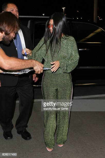 Kourtney Kardashian is seen at LAX on August 02 2017 in Los Angeles California