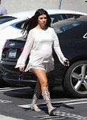 Kourtney Kardashian is seen in Los Angeles on September 17 2014 in Los Angeles California