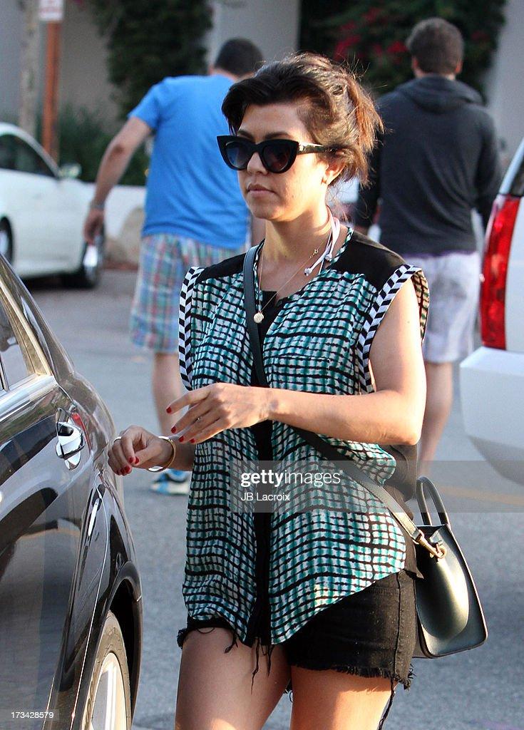 Kourtney Kardashian is seen in Malibu on July 13, 2013 in Los Angeles, California.