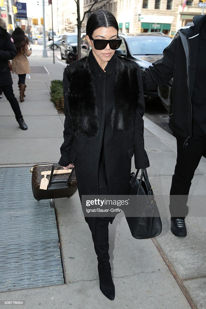Kourtney Kardashian is seen on February 12, 2016 in New York City.