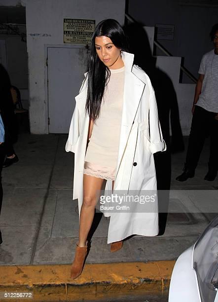 Kourtney Kardashian is seen on February 24 2016 in Los Angeles California