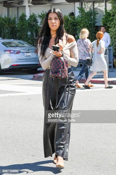 Kourtney Kardashian is seen on June 16 2017 in Los Angeles California