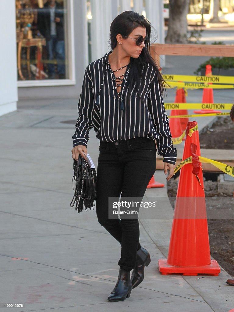 Kourtney Kardashian is seen on November 27 2015 in Los Angeles California