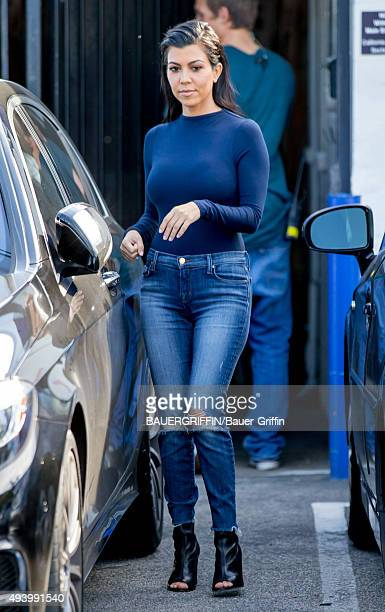 Kourtney Kardashian is seen on October 23 2015 in Los Angeles California