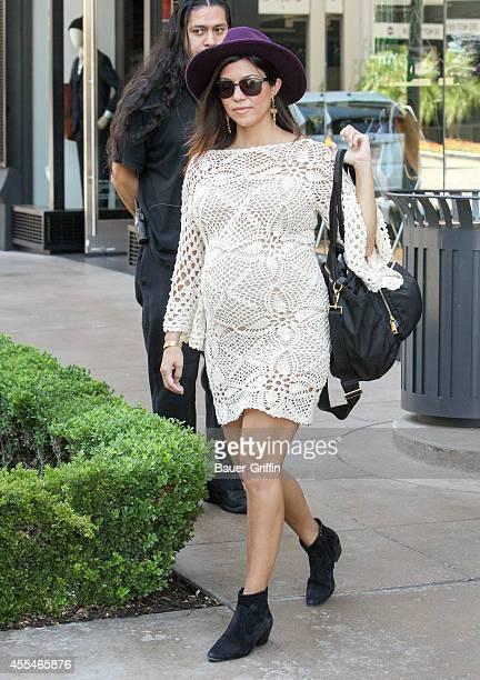 Kourtney Kardashian is seen on September 14 2014 in Los Angeles California