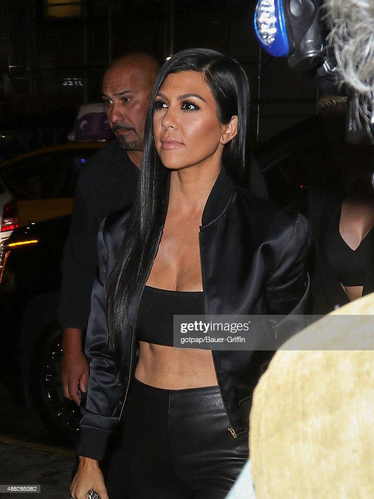 Kourtney Kardashian is seen on September 14 2015 in New York City