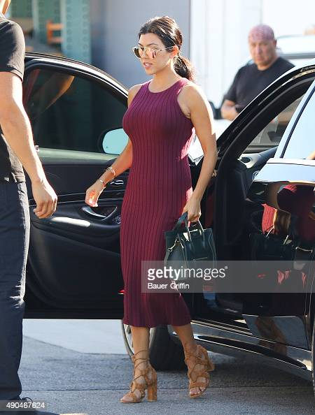 Kourtney Kardashian is seen on September 28 2015 in Los Angeles California