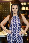 Kourtney Kardashian makes a special appearance at Kardashian Khaos at The Mirage Hotel and Casino on April 12 2014 in Las Vegas Nevada