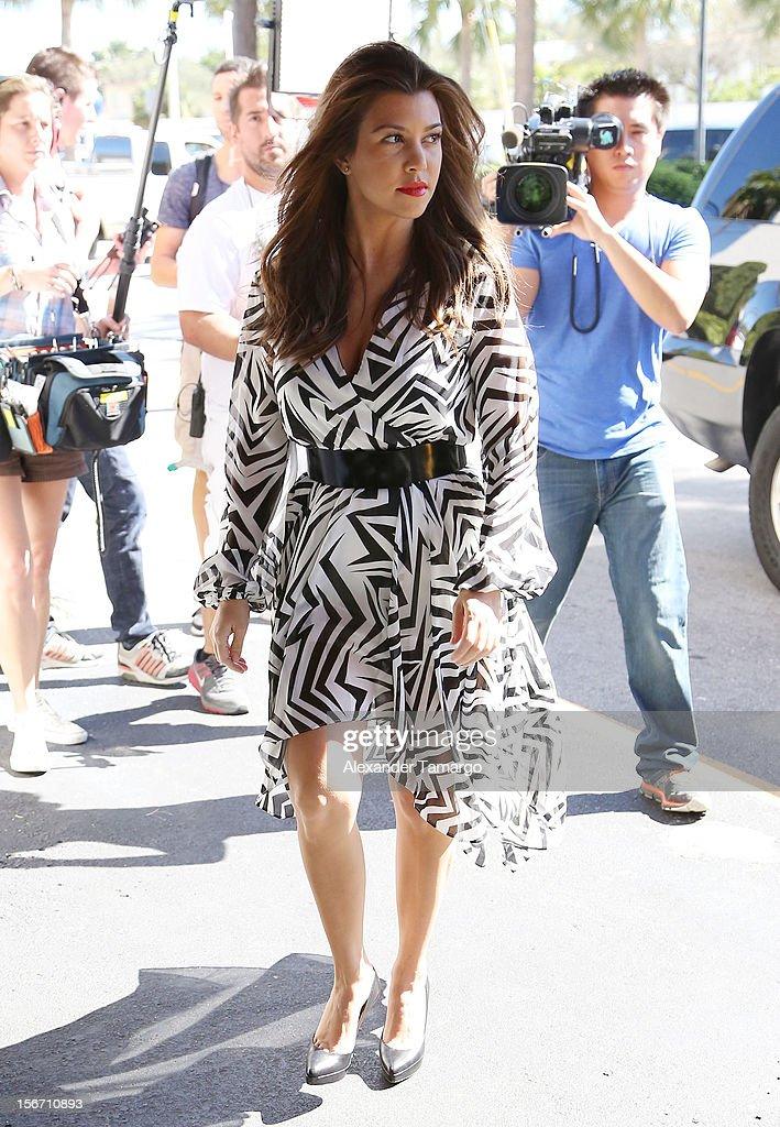 Kourtney Kardashian makes an appearance at North Miami City Hall to receive keys to the City of North Miami on November 19, 2012 in North Miami, Florida.