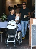 Kourtney Kardashian Penelope Disick and Scott Disick are seen on August 1 2013 in Los Angeles California