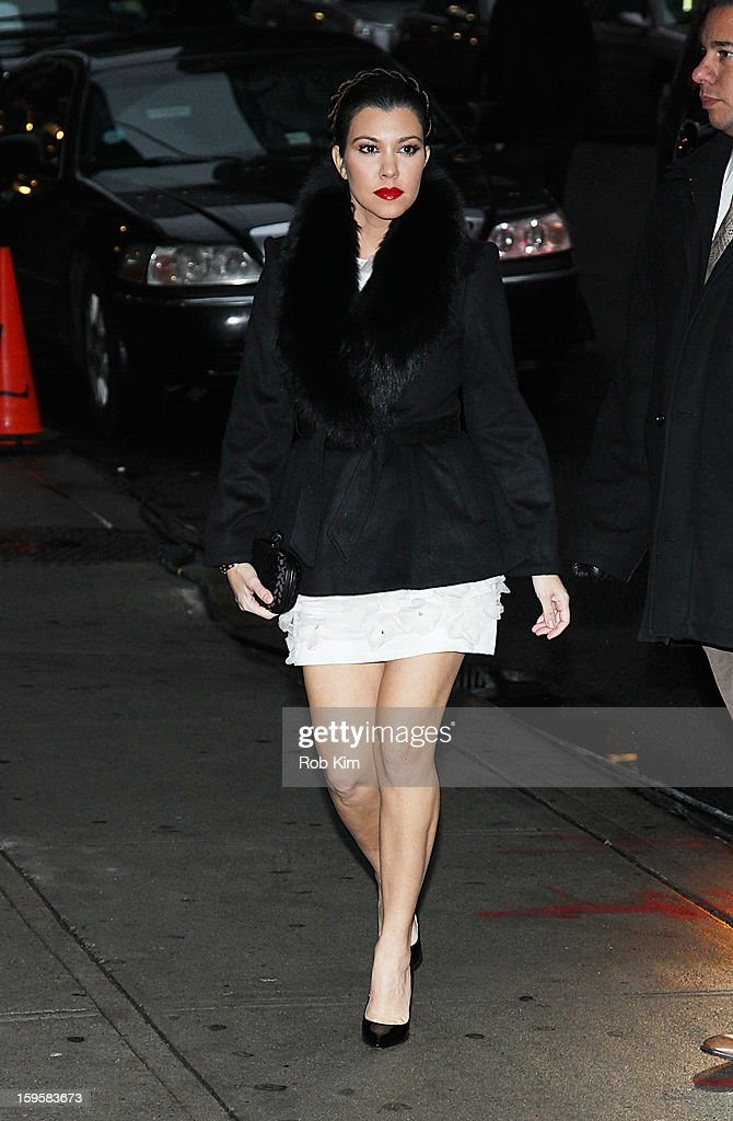 Kourtney Kardashian visits 'Late Show With David Letterman' at Ed Sullivan Theater on January 16, 2013 in New York City.