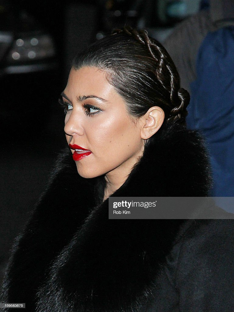 <a gi-track='captionPersonalityLinkClicked' href=/galleries/search?phrase=Kourtney+Kardashian&family=editorial&specificpeople=3955024 ng-click='$event.stopPropagation()'>Kourtney Kardashian</a> visits 'Late Show With David Letterman' at Ed Sullivan Theater on January 16, 2013 in New York City.