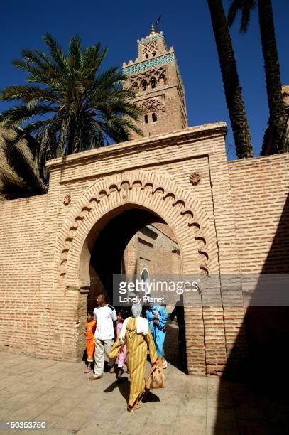 Koutoubia Mosque at Dejemma el-Fna.