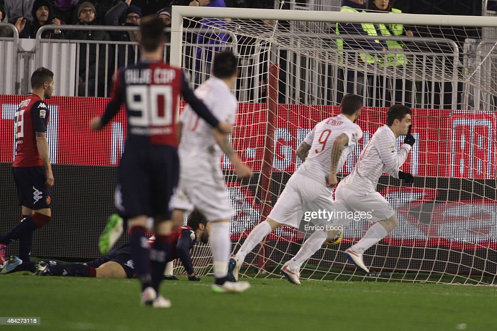 Kovacic Mateo of Inter celebrated the goal 01 during the Serie A match between Cagliari Calcio and FC Internazionale Milano at Stadio Sant'Elia on...