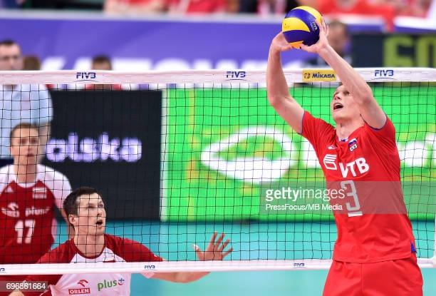 KOvalev Dmitry during the FIVB Volleyball World League 2017 match between Poland and Russia at Spodek on June 15 2017 in Katowice Poland
