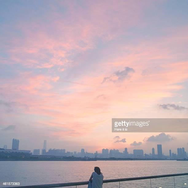 Kowloon Kwun Tong sunset
