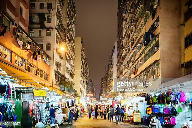Kowloon's women market at night