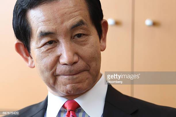 Kozo Yamamoto Japan's minister of regional revitalization listens during an interview in Tokyo Japan on Friday Aug 26 2016 Yamamoto stressed the...