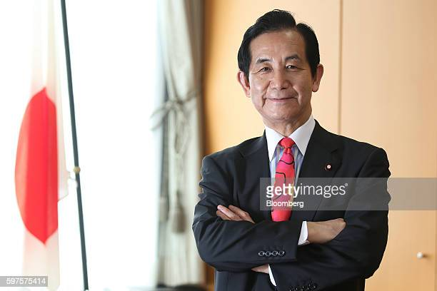 Kozo Yamamoto Japan's minister of regional revitalization poses for a photograph during an interview in Tokyo Japan on Friday Aug 26 2016 Yamamoto...